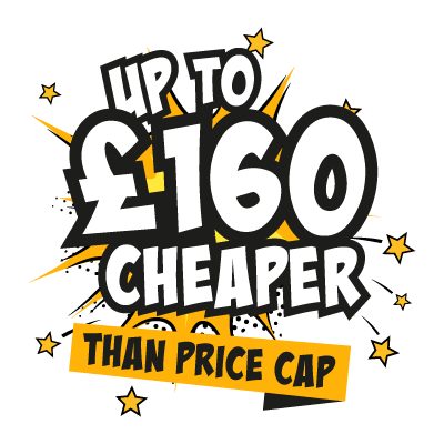 Up to £400 cheaper than price cap